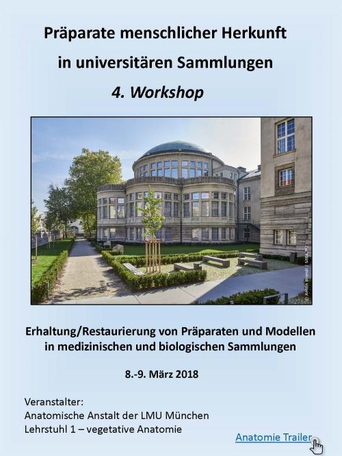 """Workshop """"Erhaltung/Restaurierung von Präparaten und Modellen in ..."""